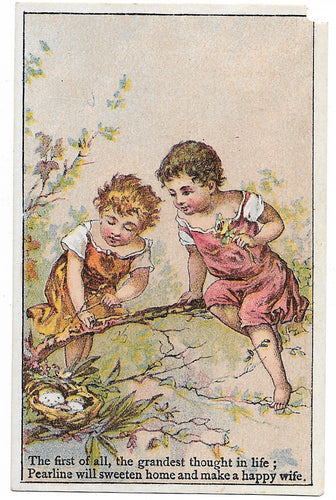 Pyle's Matchless Pearline Antique Trade Card - 2.75