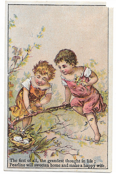 "Pyle's Matchless Pearline Antique Trade Card - 2.75"" x 4.25"""