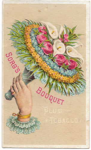 Sorg's Bouquet Plug Tobacco Antique Trade Card, Middletown, OH - 3