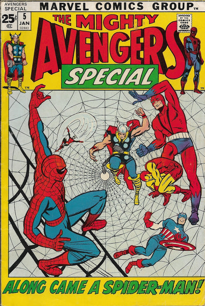 "The Mighty Avengers Special No. 5, ""Along Came a Spiderman!,"" Marvel Comics, January 1972"