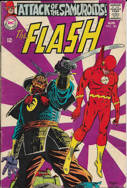 "The Flash No. 181, ""Attack of the Samuroids!,"" DC Comics, August 1968"