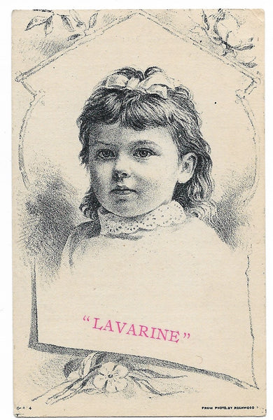 "John Hortsmann's Lavarine Antique Trade Card, San Francisco, CA - 2.75"" x 4.5"""