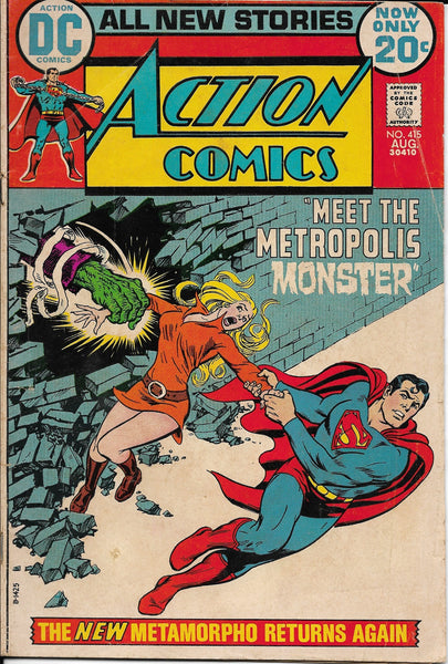 "Action Comics No. 415, ""Meet the Metropolis Monster,"" DC Comics, August 1972"