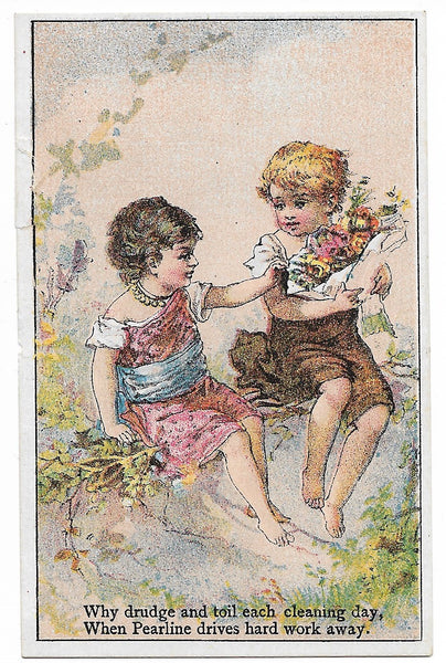 "James Pyle's Pearline Antique Trade Card - 2.75"" x 4.25"""