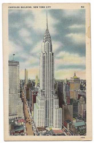 Chrysler Building, New York City Vintage Postcard
