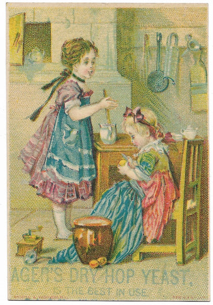 "Ager's Dry Hop Yeast Antique Trade Card, Boston, MA - 2.75"" x 4"""
