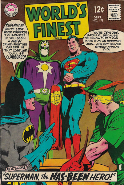 World's Finest No. 178 Starring Batman and Superman, DC Comics, September 1968