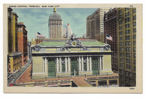 Grand Central Terminal, New York City Vintage Postcard