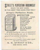 "Street's Perfection Buckwheat Antique Trade Card, New Haven, CT - 3.25"" x 4.25"""