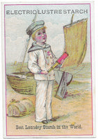 "Electric Lustre Starch Antique Trade Card, Boston, MA - 2.75"" x 4"""