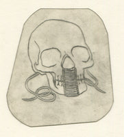 Skull Vintage Traditional Tattoo Acetate Stencil from Bert Grimm's Shop