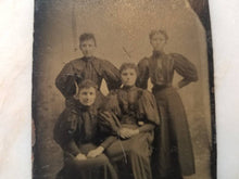 Load image into Gallery viewer, Tintype Photograph of a Group of Victorian Women