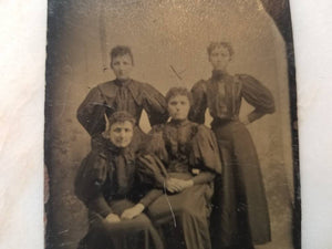 Tintype Photograph of a Group of Victorian Women