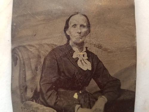 Tintype Photograph of an Elderly Woman Seated