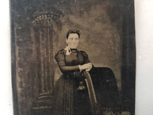 Load image into Gallery viewer, Tintype Photograph of a Victorian Woman Standing