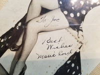 "Framed Autographed Photograph of Burlesque Dancer Marie Cord, Given to ""Chicken Joe"""
