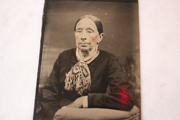 Tintype Photograph of an Elderly Woman
