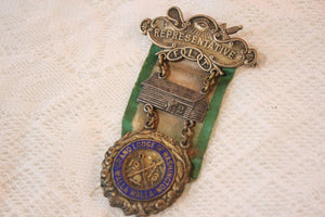 IOOF Independant Order of Odd Fellows Representative Medal with Green and White Ribbon, 1913