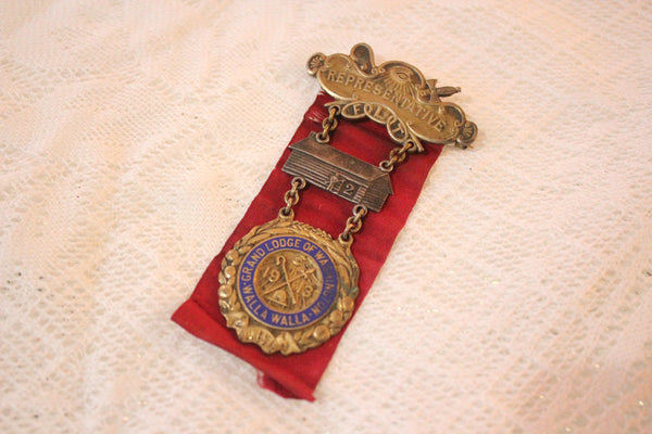 IOOF Independant Order of Odd Fellows Representative Medal & Red Ribbon, 1913
