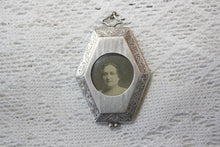Load image into Gallery viewer, Sterling Silver Locket from Warren Rebekah Odd Fellows Lodge No. 63, October 19, 1923, Selma Server