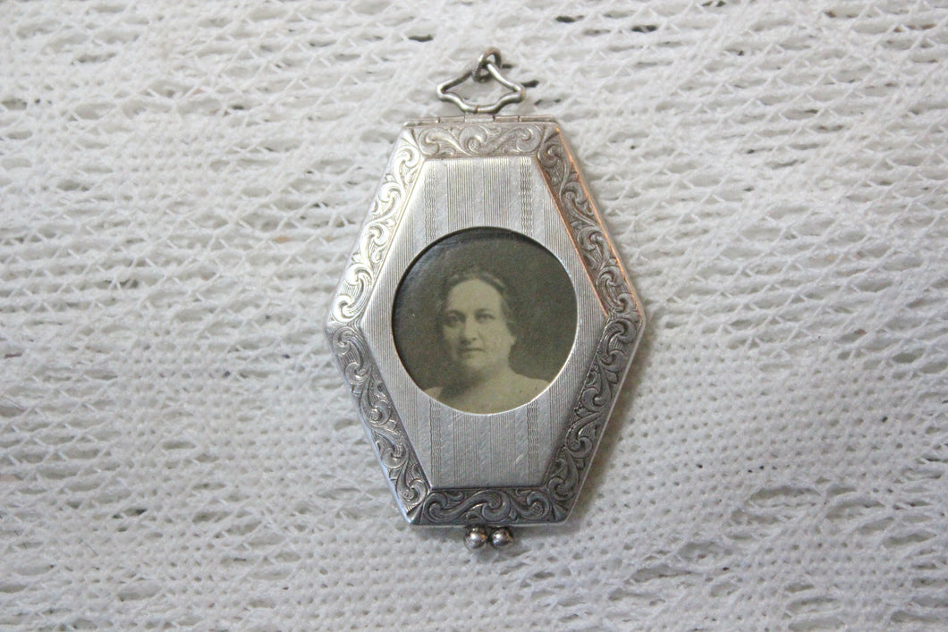 Sterling Silver Locket from Warren Rebekah Odd Fellows Lodge No. 63, October 19, 1923, Selma Server