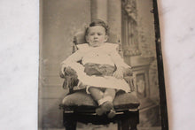 Load image into Gallery viewer, Tintype Photograph of a Seated Baby