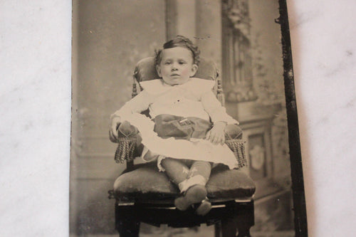 Tintype Photograph of a Seated Baby