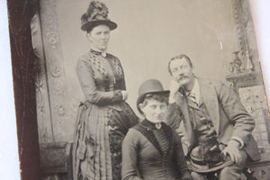 Tintype Photograph of a Two Women and a Man