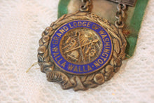 Load image into Gallery viewer, IOOF Independant Order of Odd Fellows Representative Medal with Green and White Ribbon, 1913