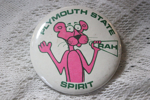 Plymouth State Spirit Pink Panther Pinback Button