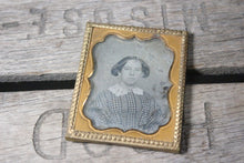 Load image into Gallery viewer, Daguerreotype Photograph of a Young Woman with a Lace Collar