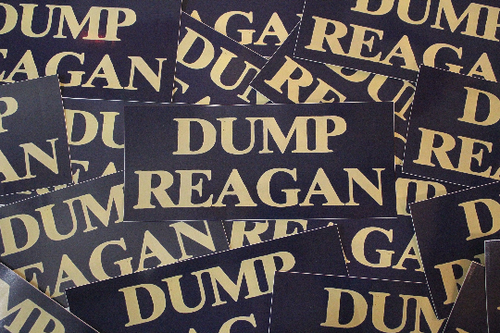 Dump Reagan High Quality Vinyl Bumper Sticker - 7