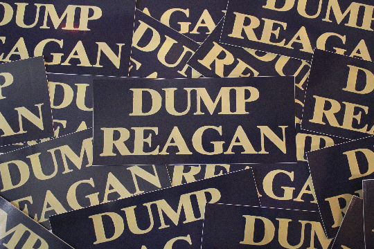 "Dump Reagan High Quality Vinyl Bumper Sticker - 7"" x 3"""
