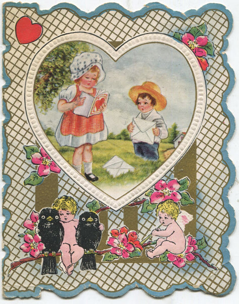 "Antique Valentine Greeting Card - ""I'm Going to Choose Just You"" - 4"" x 5"""
