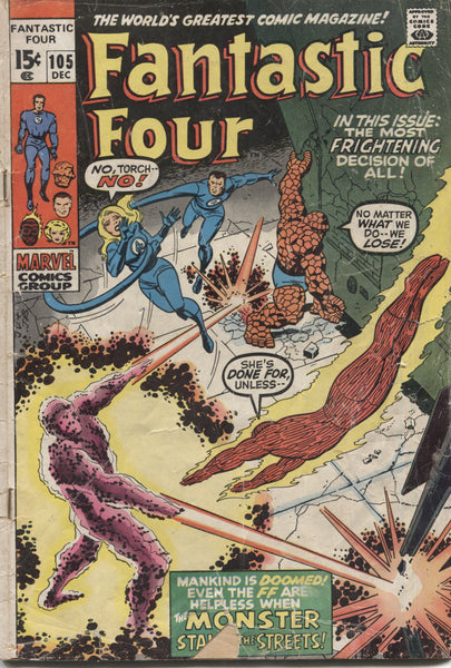 "Fantastic Four No. 105, ""The Monster Stalks the Streets,"" Marvel Comics, December 1970"