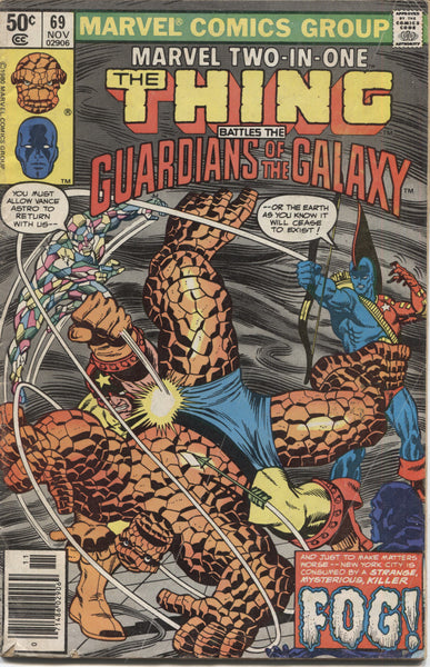 Marvel Two-in-One No. 69, The Thing Battles the Guardians of the Galaxy, Marvel Comics, November 1980