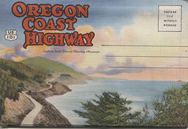 Oregon Coast Highway Vintage Souvenir Postcard Folder
