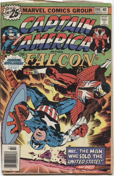 Captain America No. 199, Featuring The Falcon, Marvel Comics, July 1976