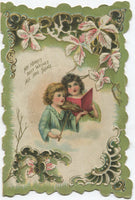 "Antique Valentine Greeting Card, Dated 1915 - ""My Heart's Best Wishes"" - 3.5"" x 5.5"""