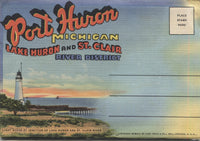 Port Huron, Michigan Vintage Souvenir Postcard Folder