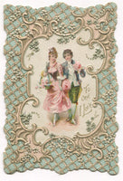 "Antique Valentine Greeting Card - ""To One I Love"" - 3.5"" x 5.5"""