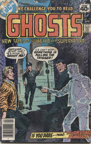 "Ghosts No. 75, ""The Spectral Witness,"" DC Comics. April 1979"