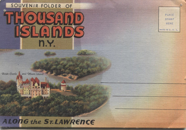 Thousand Islands, New York Vintage Souvenir Postcard Folder