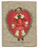"Antique Valentine Greeting Card, Dated 1903 - ""Pain"" - 5"" x 6.5"""