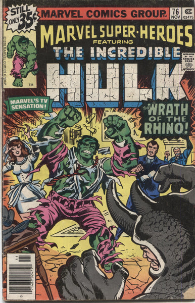 Marvel Super-Heroes Featuring the Incredible Hulk, No 76, Marvel Comics, November 1978