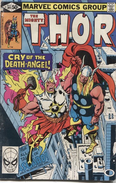 "The Mighty Thor No. 305, ""Cry of the Death-Angel,"" Marvel Comics, March 1981"
