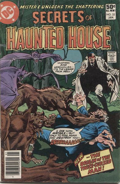 "Secrets of Haunted House No. 32, ""The Origin of the Twice-Cursed Man,"" DC Comics, January 1981"