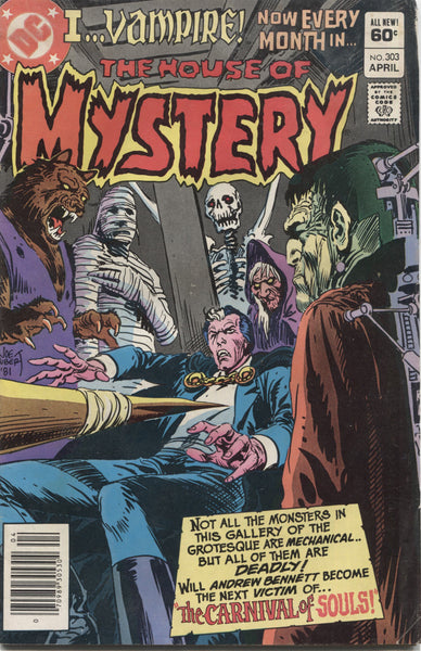 "The House of Mystery No. 303, ""The Carnival of Souls,"" DC Comics, April 1982"