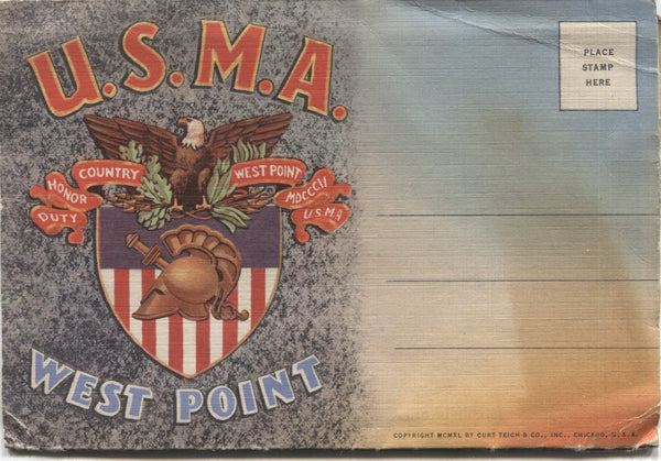 United States Military Academy West Point Vintage Souvenir Postcard Folder