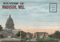 Madison, Wisconsin Vintage Souvenir Postcard Folder